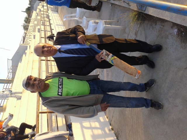 Lakatamia Mayor and Coach coortinator Mr. RUDOLPH CRASTO